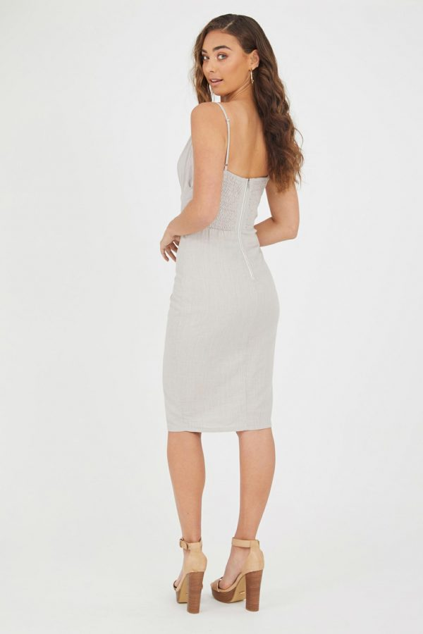 Dominica Dress Ladies Dress Colour is Oyster