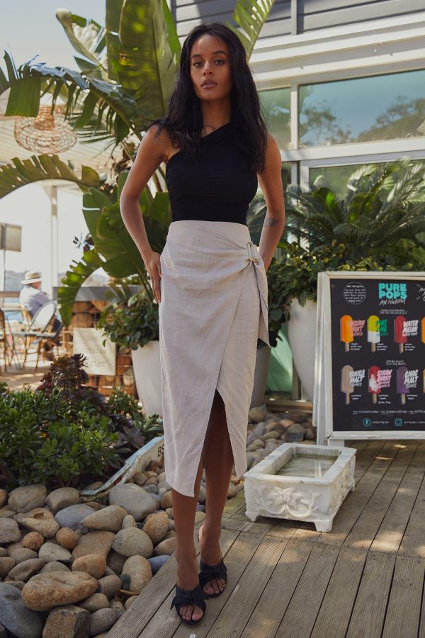 Dominica Skirt Ladies Skirt Colour is Oyster