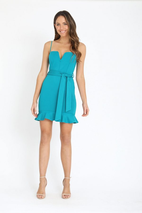 Magdalena Dress Ladies Dress Colour is Teal