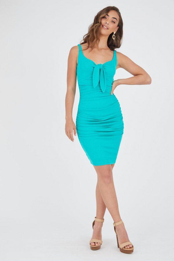 Manzana Dress Ladies Dress Colour is Emerald