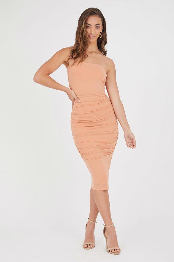 Maroma Dress Ladies Dress Colour is Copper