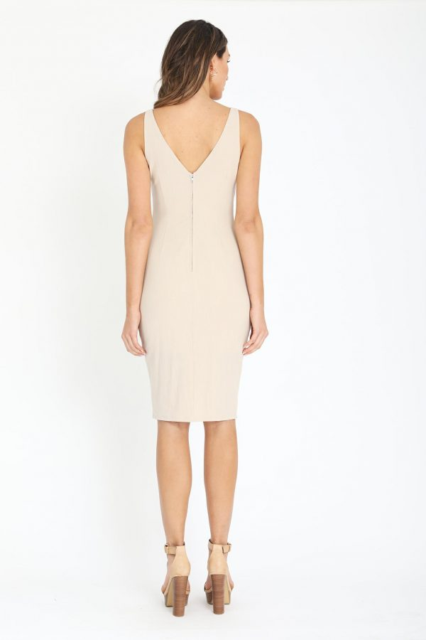 Isola Dress Ladies Dress Colour is Beige