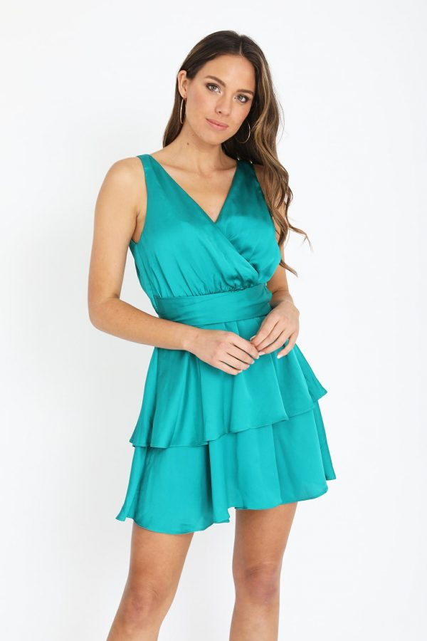 Mazzaro Dress Ladies Dress Colour is Emerald