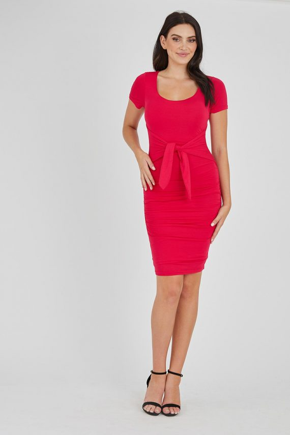 Evora Dress Ladies Dress Colour is Fuchsia