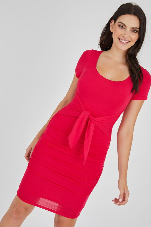 Evora Dress Ladies Dress Colour is Fuchsia