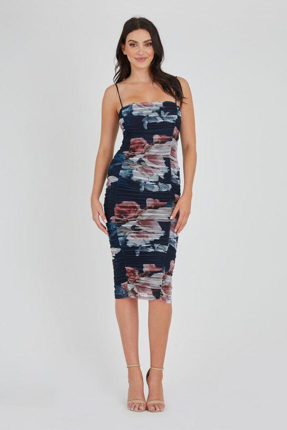 Frost Midi Dress Ladies Dress Colour is Print