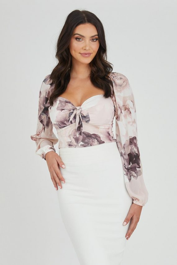 Romantic Top Ladies Top Colour is Romantic Bloom Print