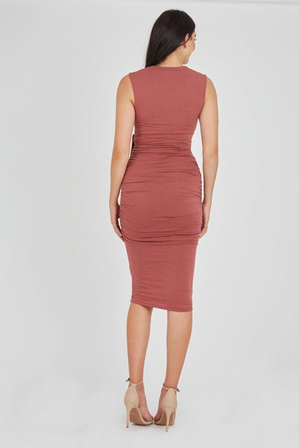 Gamble Dress Ladies Dress Colour is Copper