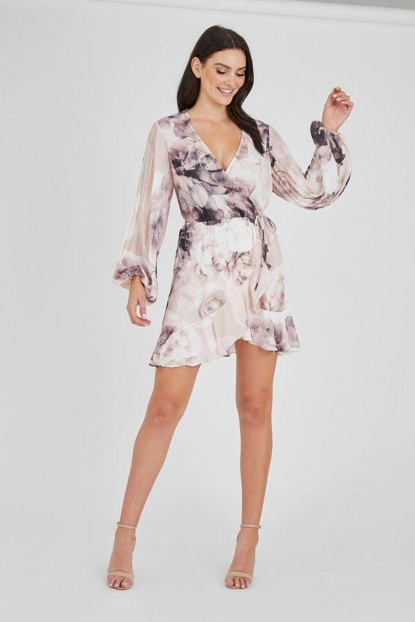 Romantic Ruffle Dress Ladies Dress Colour is Romantic Bloom Print