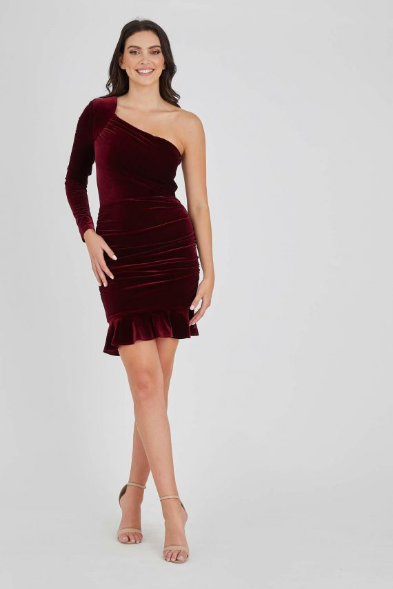 Lady Luck Dress Ladies Dress Colour is Wine
