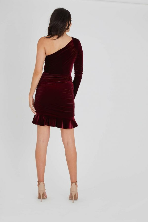 Lady Luck Dress Ladies Dress Colour is Wine