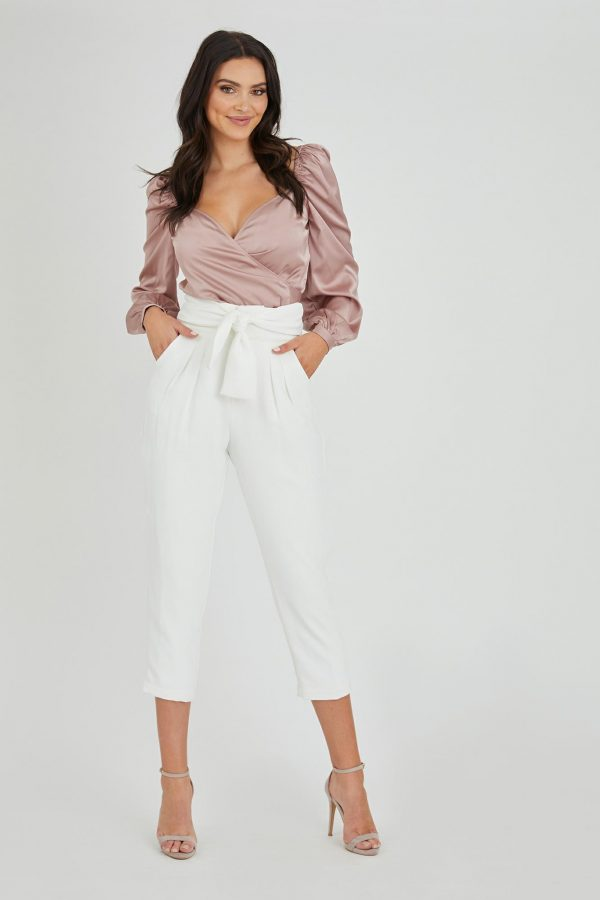 Poker Pant Ladies Pants Colour is White