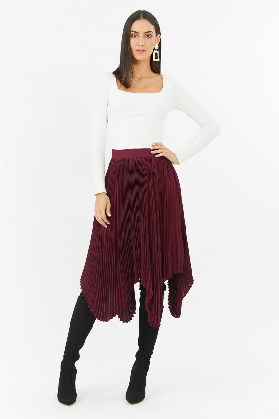 Petunia Skirt Ladies Skirt Colour is Wine