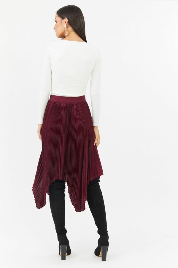 Petunia Skirt Ladies Skirt Colour is Wine