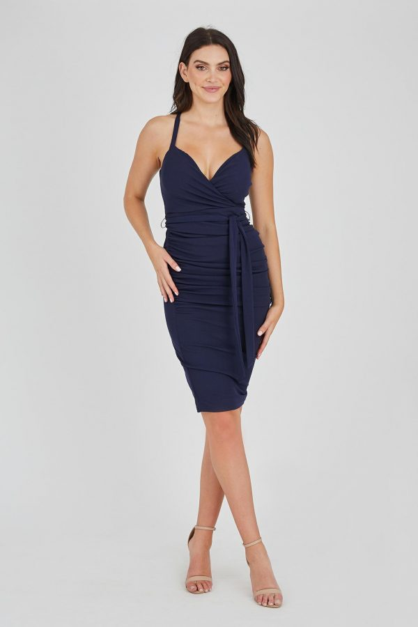 Audience Dress Ladies Dress Colour is Navy