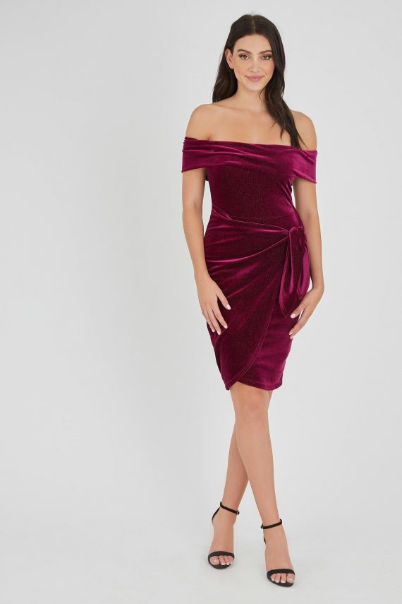 Alibi Dress Ladies Dress Colour is Fuchsia