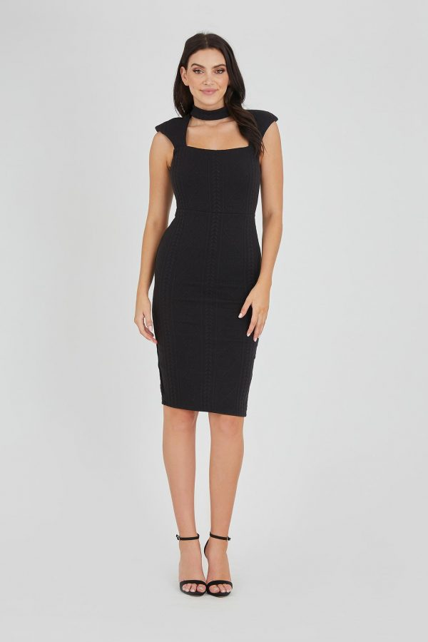 Distraction Dress Ladies Dress Colour is Black