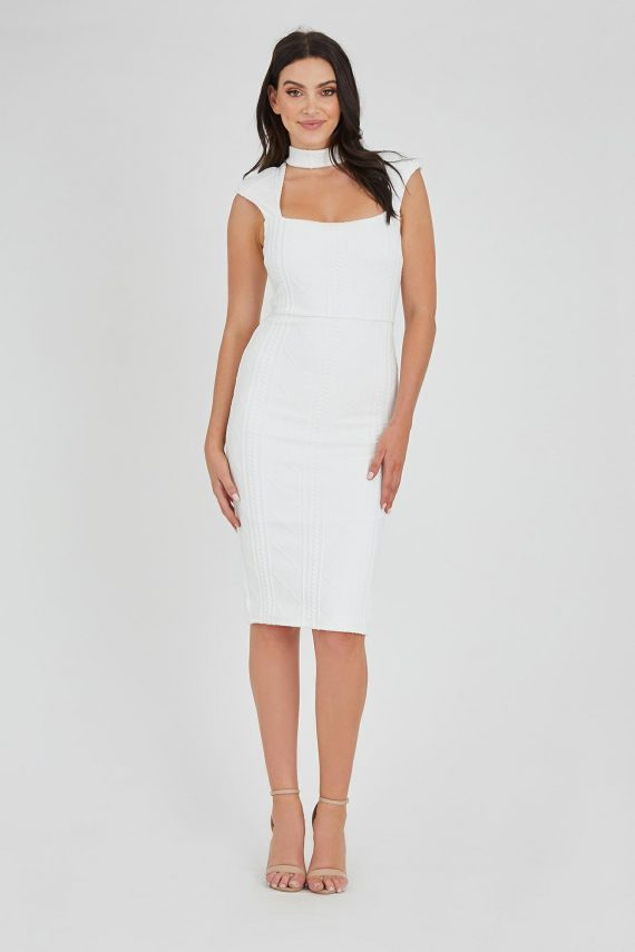 Distraction Dress Ladies Dress Colour is White