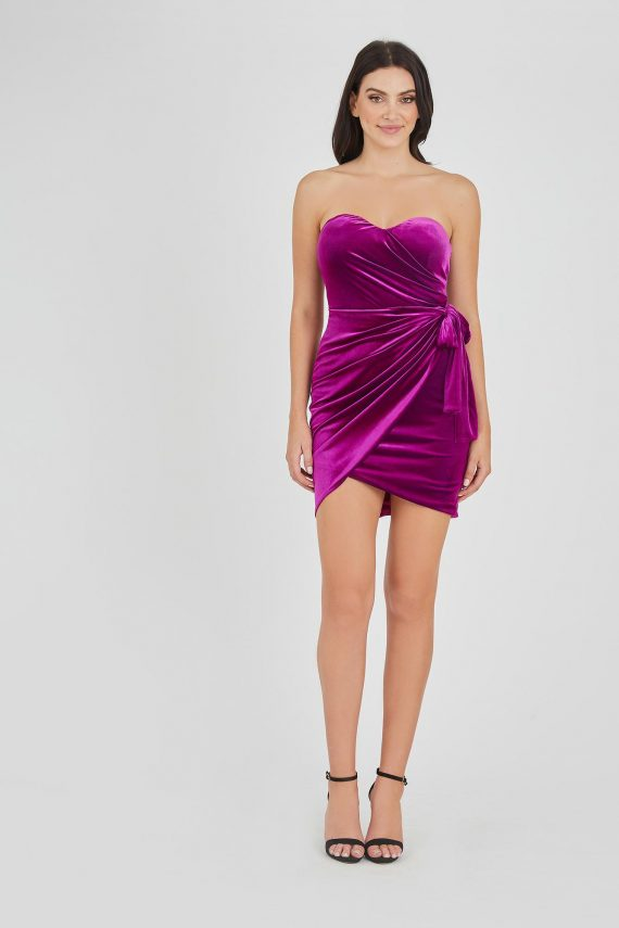 Casino Dress Ladies Dress Colour is Fuscia