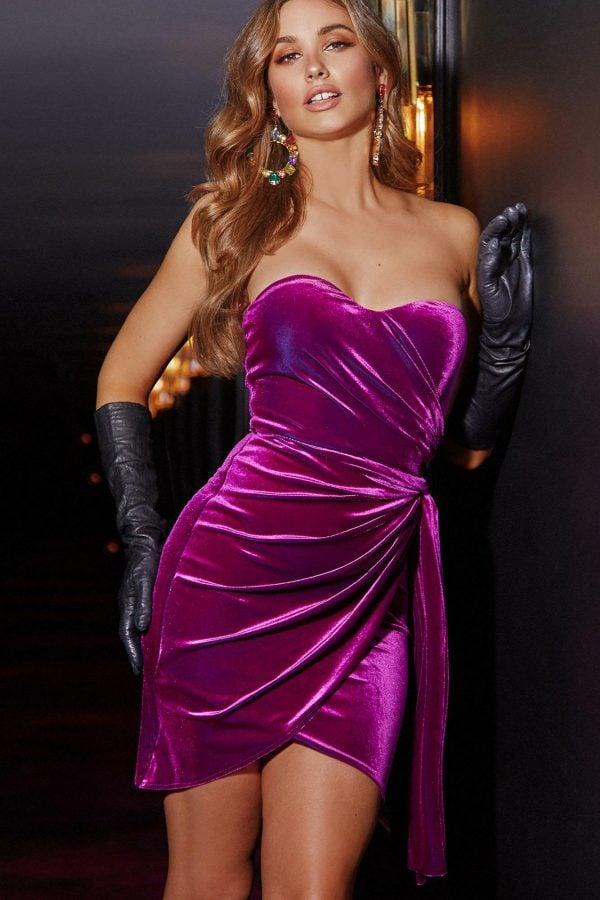 Casino Dress Ladies Dress Colour is Fuscia