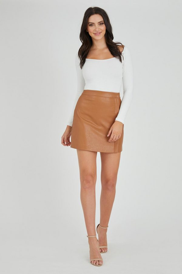 Joker Skirt Ladies Skirt Colour is Tan