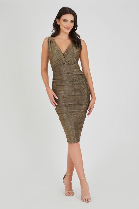Golden Eye Dress Ladies Dress Colour is Gold