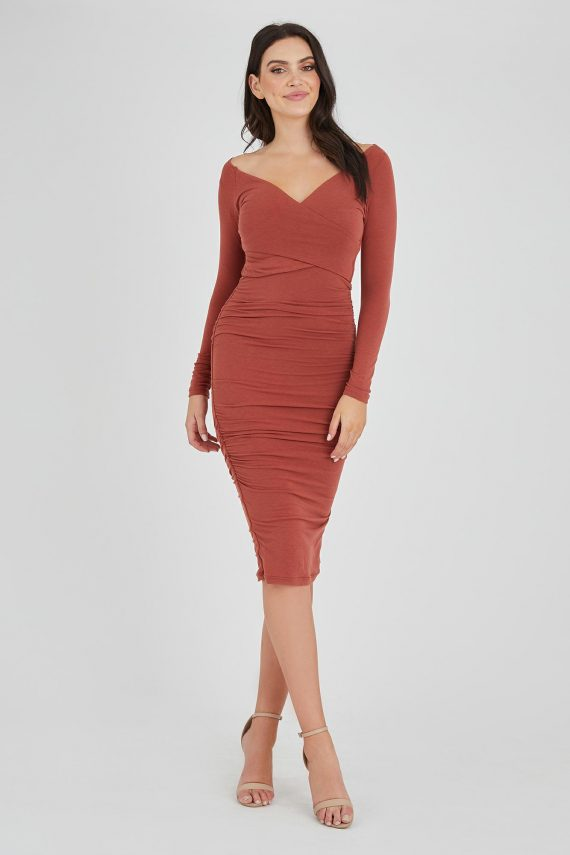 Heist Dress Ladies Dress Colour is Copper
