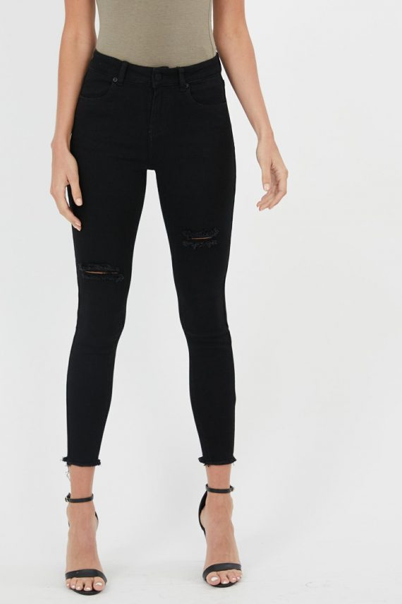 Helix Jean Ladies Jeans Colour is Black