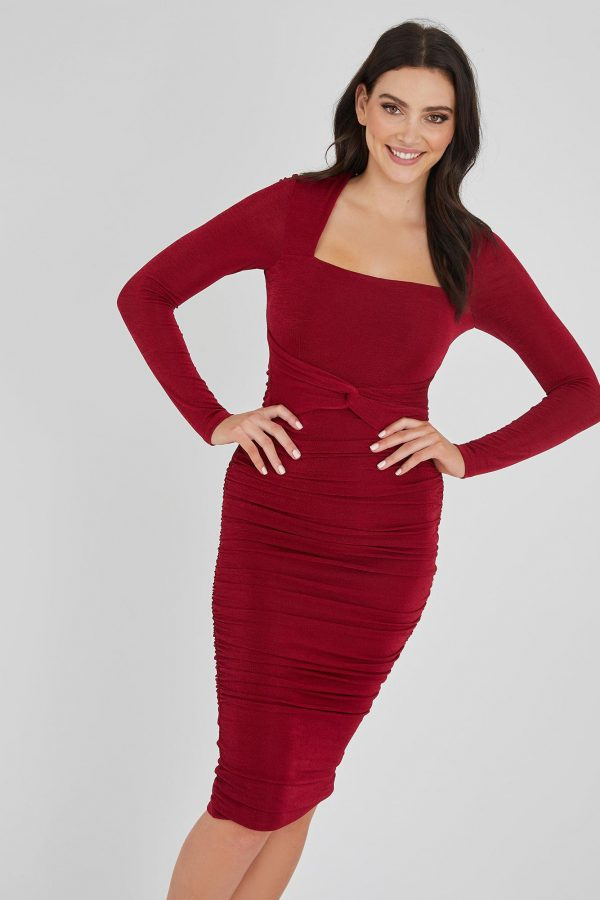 Las Vegas Dress Ladies Dress Colour is Ruby