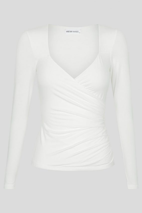 Investigate Top Ladies Top Colour is White