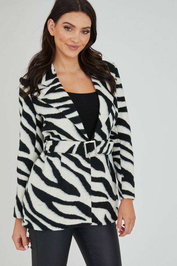 Zebra Jacket Ladies Jacket Colour is Zebra Print