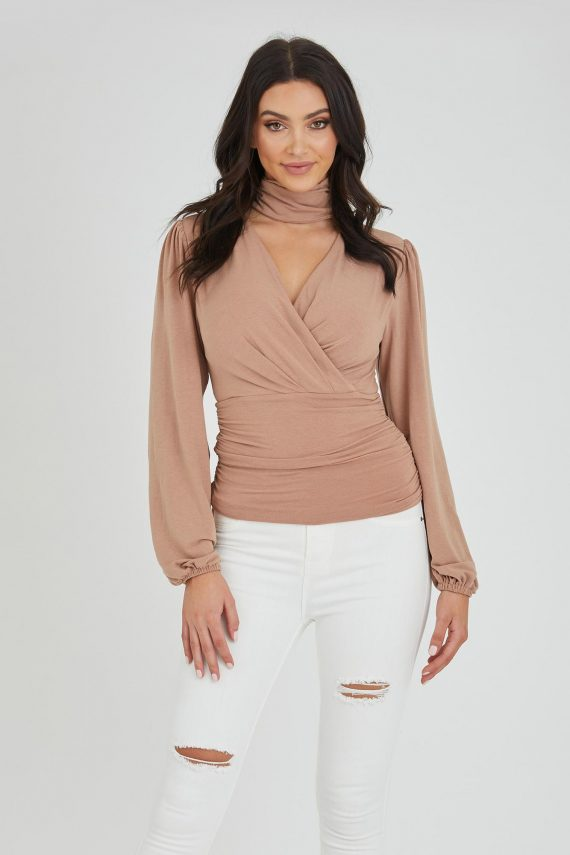 Heist Top Ladies Top Colour is Nude