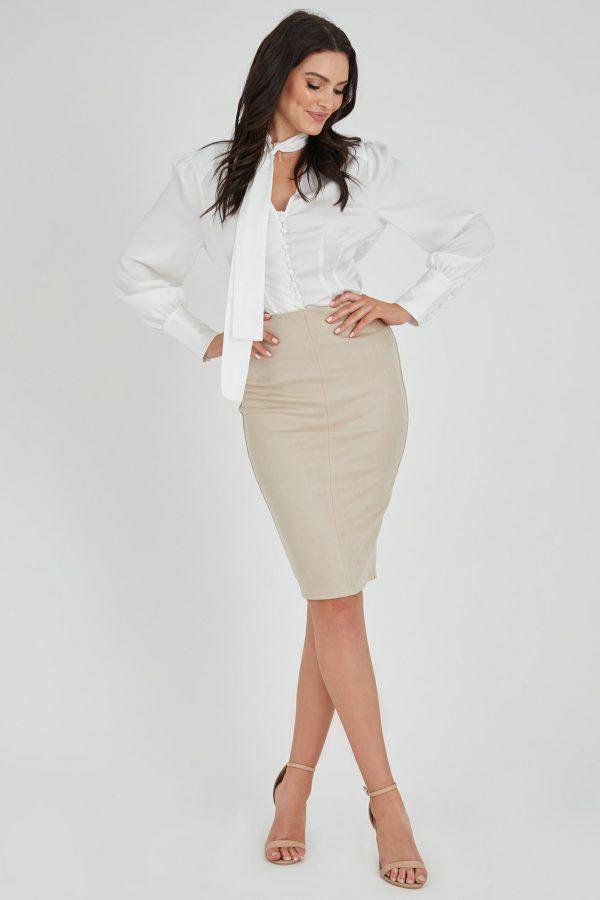 Suave Skirt Ladies Skirt Colour is Beige