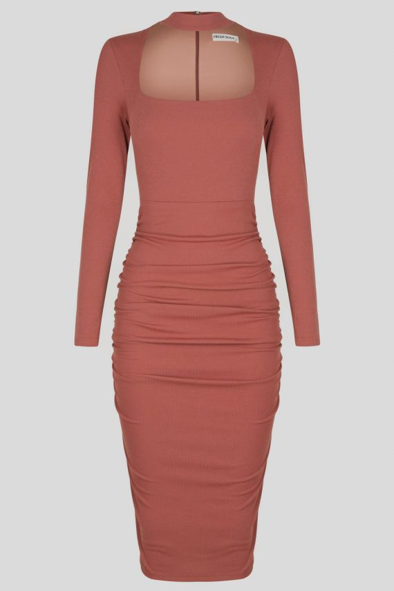 Lost City Dress Ladies Dress Colour is Copper