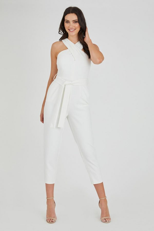 Sinatra Jumpsuit Ladies Jumpsuit Colour is White
