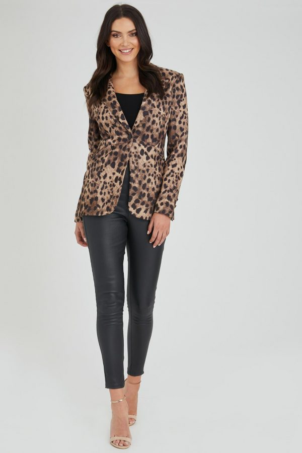 Shuffle Jacket Ladies Jacket Colour is Leopard Print