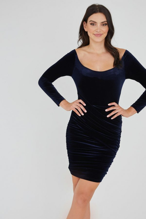 Bankroll Dress Ladies Dress Colour is Navy