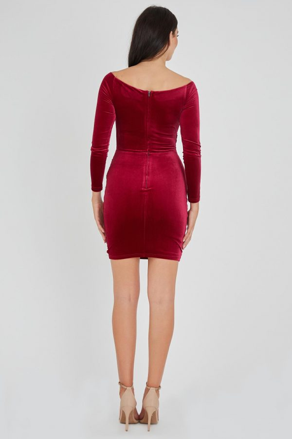 Bankroll Dress Ladies Dress Colour is Ruby