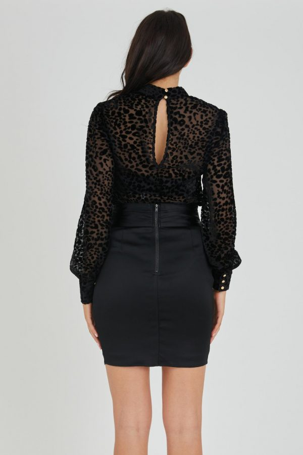 Luxe Skirt Ladies Skirt Colour is Black
