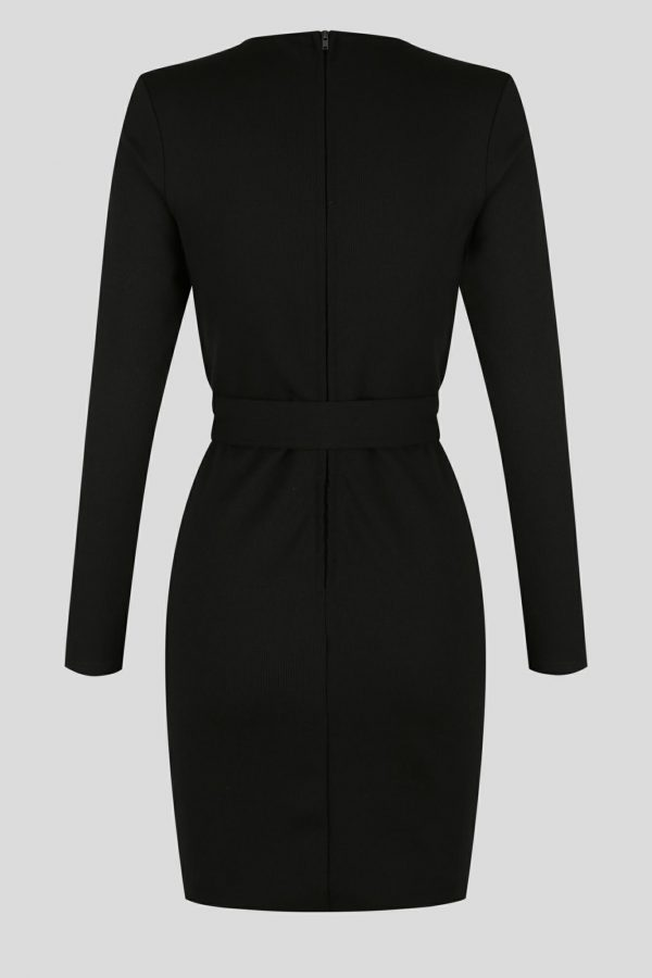 Feature Dress Ladies Dress Colour is Black