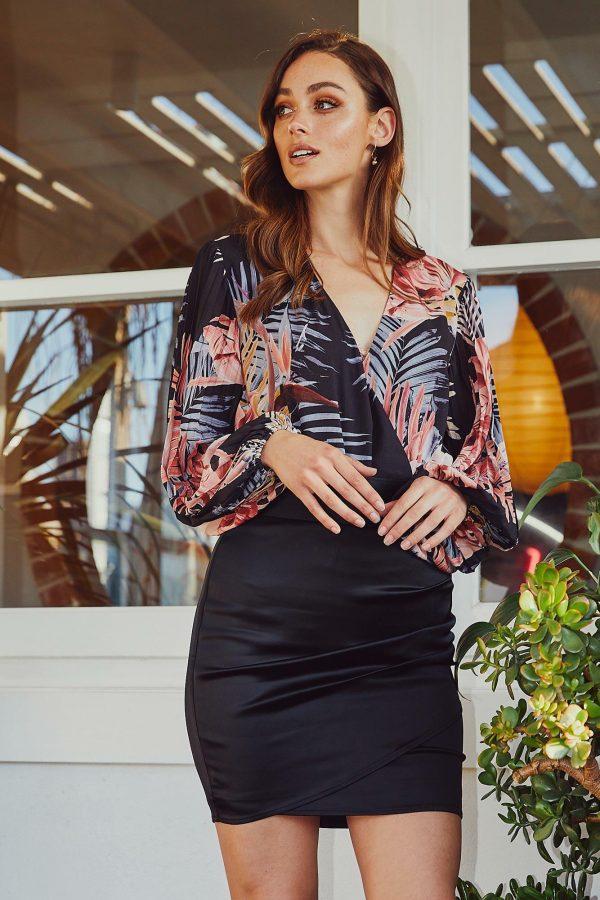 Dusk Bodysuit Ladies Top Colour is Tropical Dusk Print