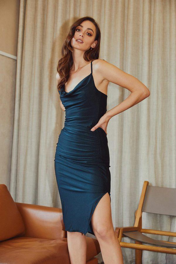 Seduction Dress Ladies Dress Colour is Teal