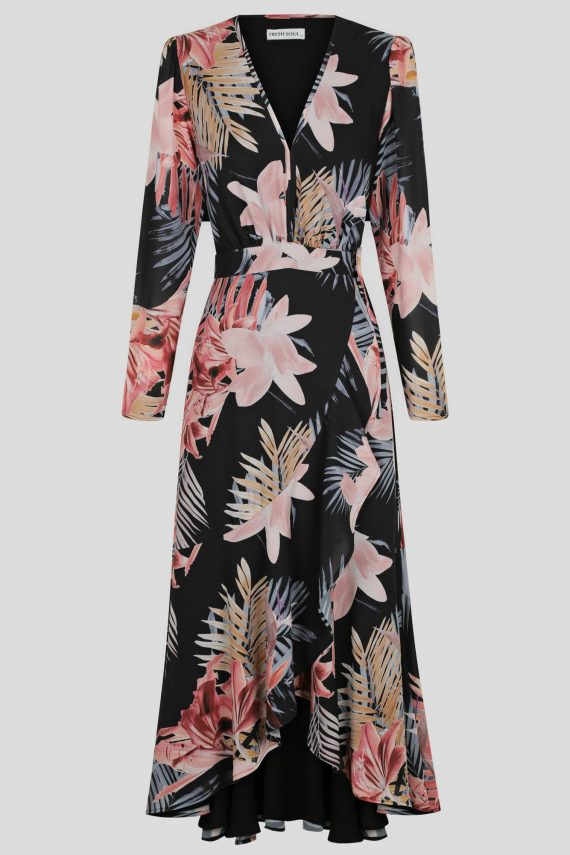 Dusk Dress Ladies Dress Colour is Tropical Dusk Print