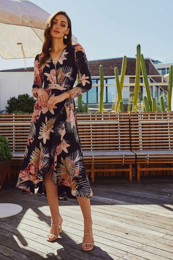 Dusk Dress Ladies Dress Colour is Tropical Dusk Print
