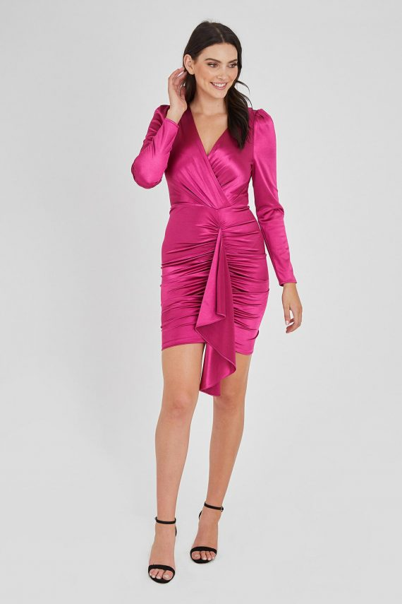 Fortune Dress Ladies Dress Colour is Fuscia
