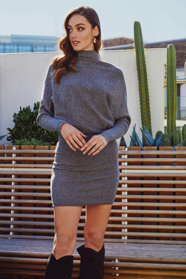 Lenox Knit Dress Ladies Dress Colour is Grey Marle