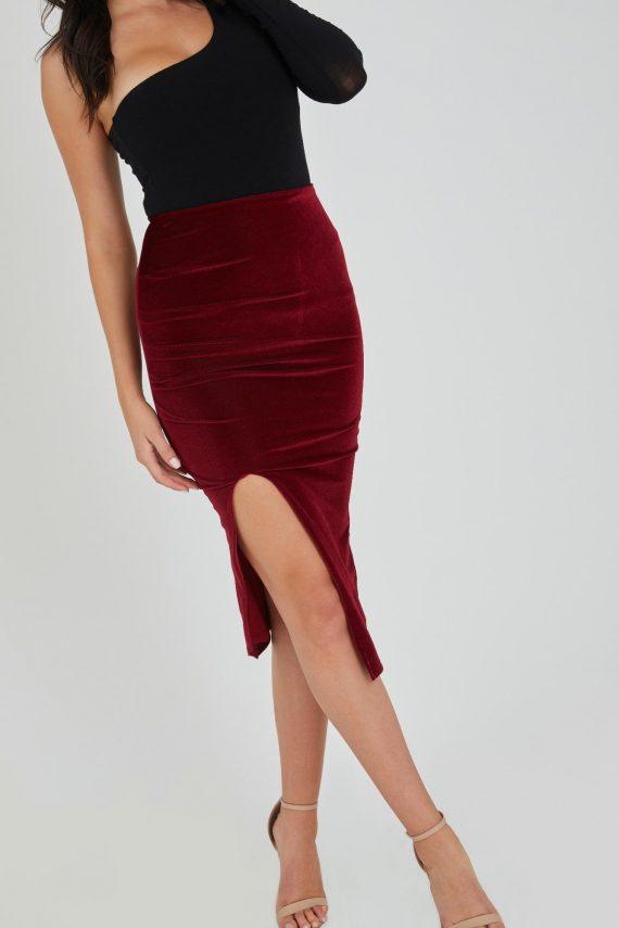 Orelana Skirt Ladies Skirt Colour is Burgandy
