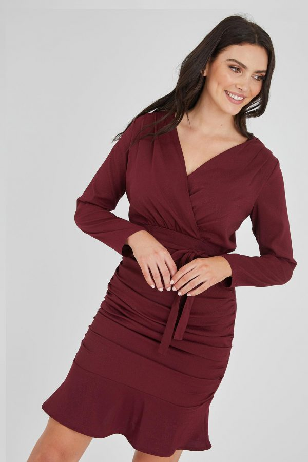 Hero Dress Ladies Dress Colour is Burgandy