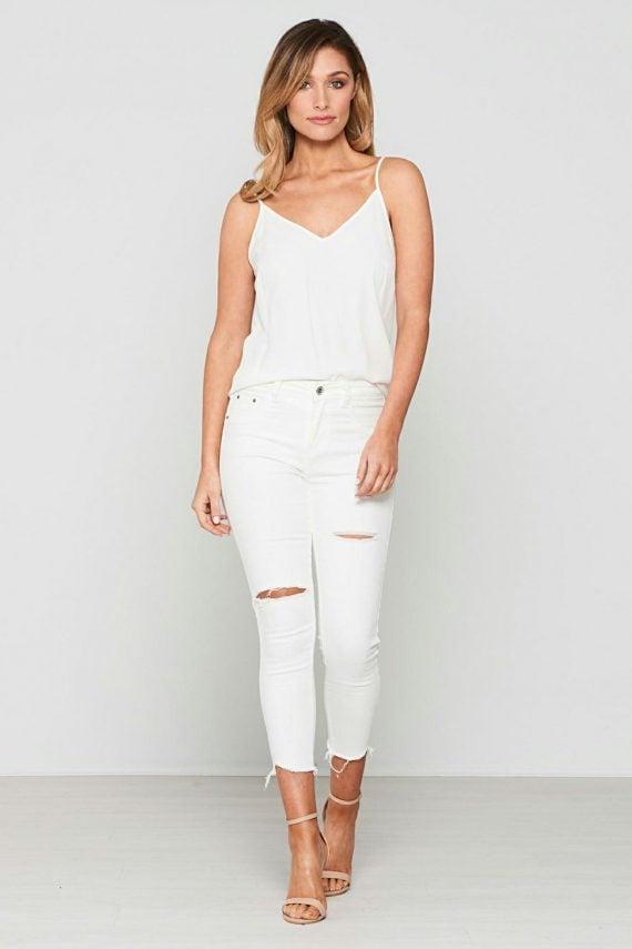 Gamma Jean Ladies Jeans Colour is White