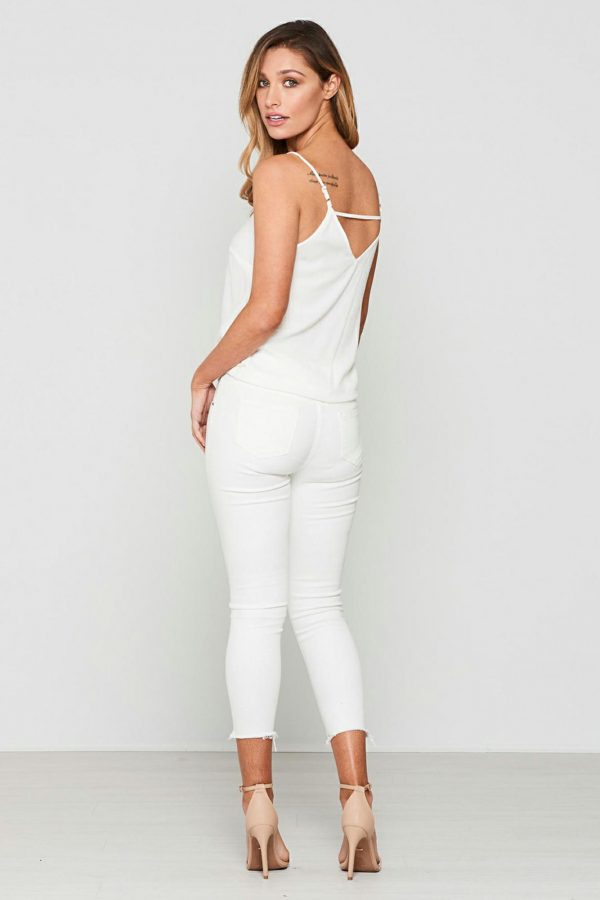 Gamma Jean Ladies Jeans Colour is White